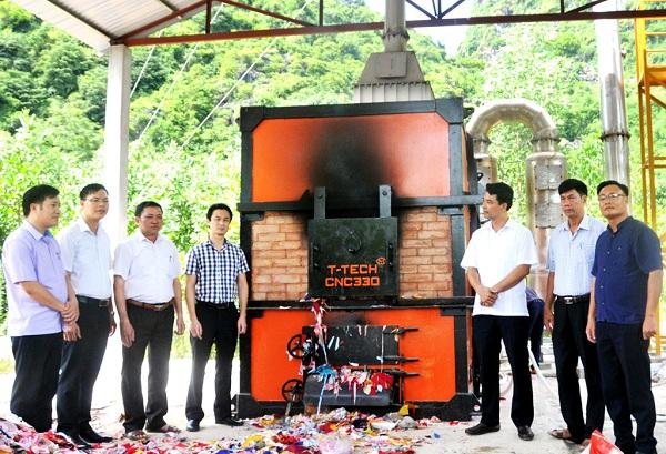 Ninh Bình: Mô hình xử lý rác thải sinh hoạt bằng lò đốt CNC 330 góp phần bảo vệ môi trường